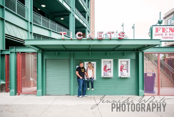 Fenway Park Boston ballpark engagement session
