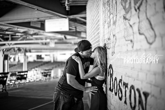 Fenway Park Boston ballpark engagement session